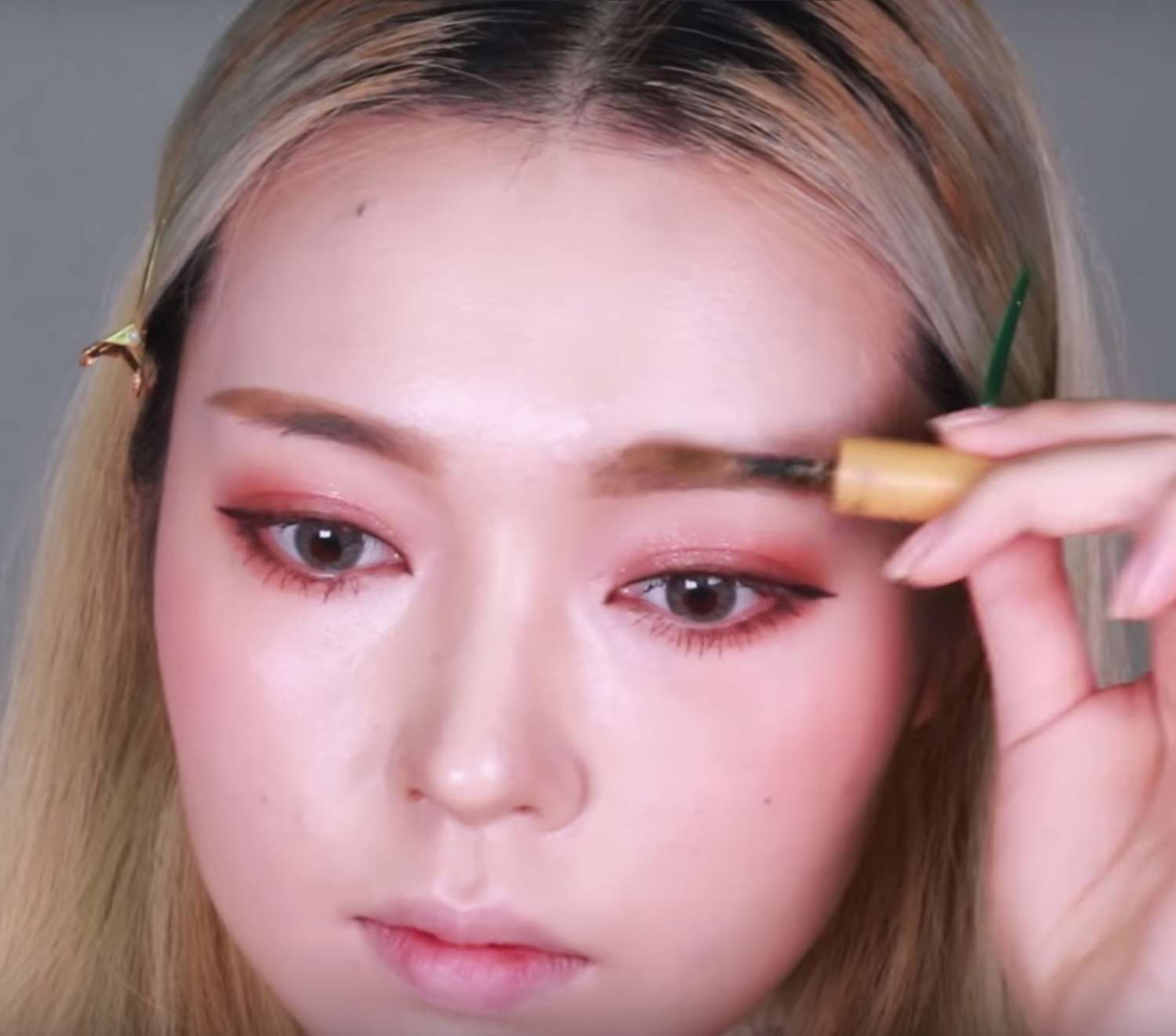 The glam burgundy smokey makeup tutorial fasheholic product used etude house color my brow 5 blony brown baditri Image collections