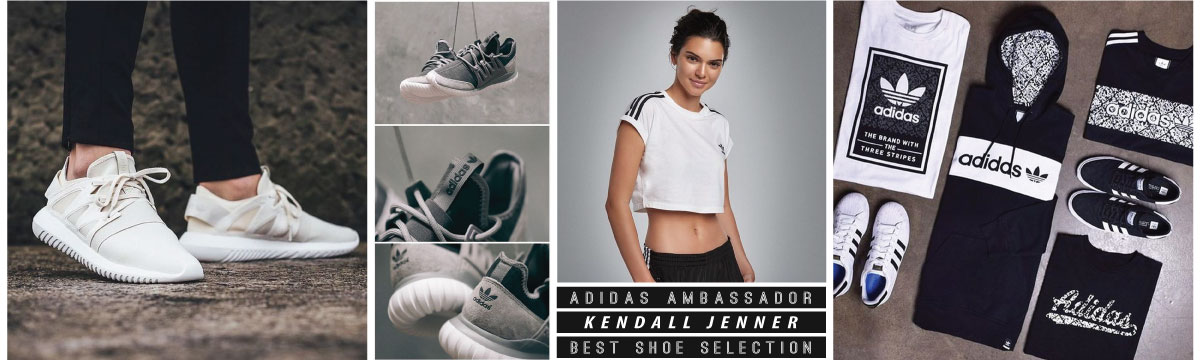 Kendall Jenner with her favourite Adidas Original Shoes